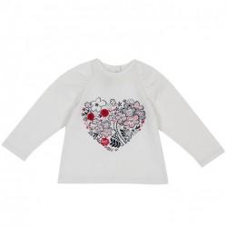 Blusa manga larga con diseño de corazón