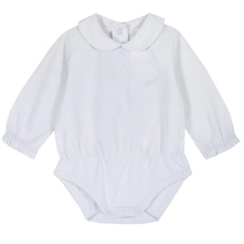 Body manga larga blanco