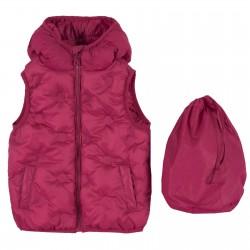 Chaleco impermeable con capucha rojo