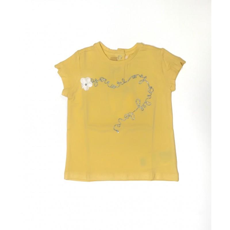Blusa manga corta amarilla