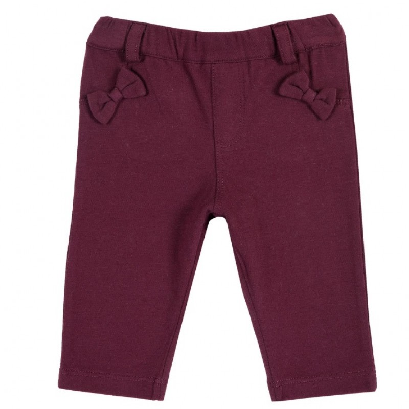 Leggings color corinto