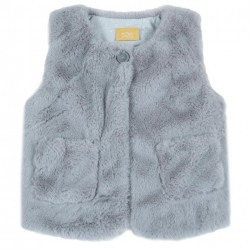 Chaleco en Ecofur gris