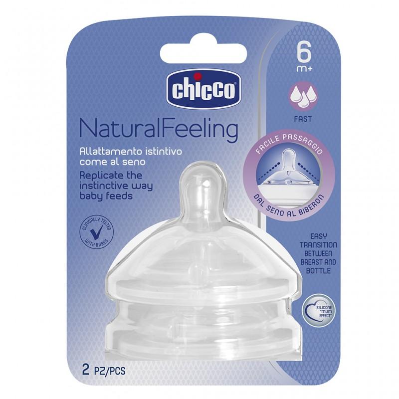 Tetina Natural Feeling 6m+ flujo rápido