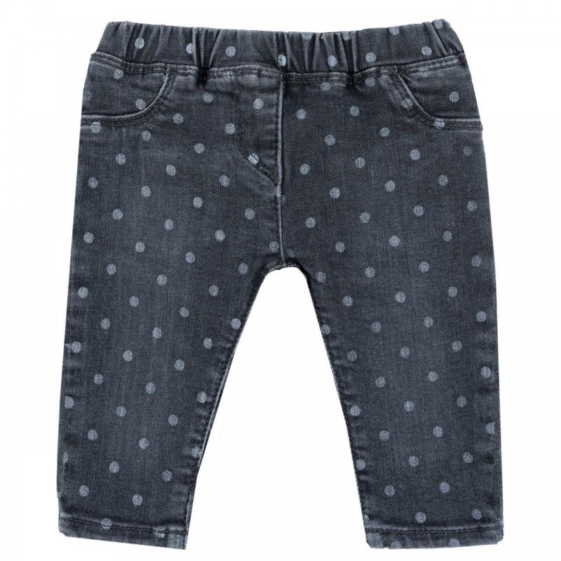 Pantalón de lona con fantasia de puntos