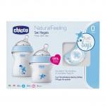 Set de biberones Natural Feeling Azul