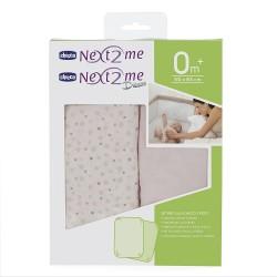 Set de sábanas para cuna Next2me gris claro
